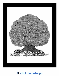 History Tree of American Rock Music Print / Lithograph