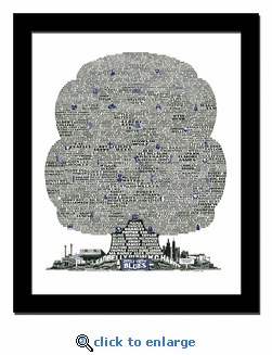 History Tree of Blues Music Print / Lithograph