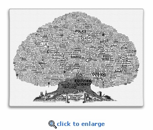 History Tree of British Rock Music Canvas Print