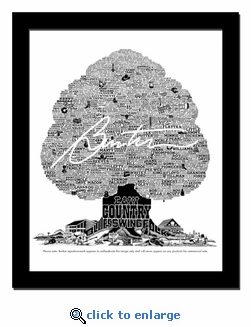 History Tree of Country Music Print / Lithograph