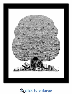 History Tree of Heavy Metal Music Print / Lithograph