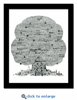 History Tree of 1960's Music Print / Lithograph