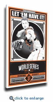 Buster Posey 2014 World Series Sports Propaganda Canvas Print - San Francisco Giants