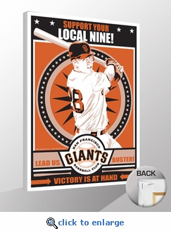 Buster Posey Sports Propaganda Canvas Print - Giants