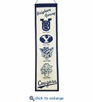 BYU Cougars Heritage Wool Banner (8 x 32)