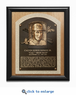 Cal Ripken Jr Baseball Hall of Fame Plaque Framed Print - Baltimore Orioles