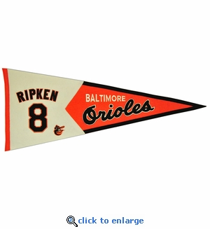 Cal Ripken Jr Legends Wool Pennant 13x 32 - Baltimore Orioles