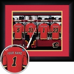 Calgary Flames Personalized Locker Room Print