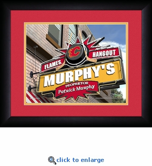 Calgary Flames Personalized Sports Room / Pub Print