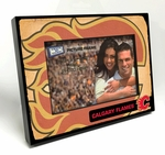 Calgary Flames Vintage Style Black Wood Edge 4x6 inch Picture Frame