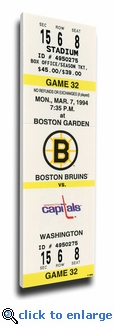Cam Neely 50 Goals in 44 Games Canvas Mega Ticket - Boston Bruins
