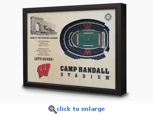 Camp Randall Stadium 3-D Wall Art - Wisconsin Badgers Football