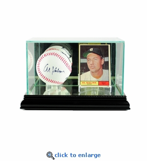 Card and Baseball Display Case - Black