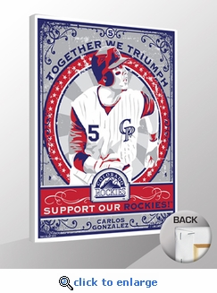 Carlos Gonzalez Sports Propaganda Canvas Print - Rockies