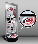 Carolina Hurricanes Hockey Puck Ticket Display Stand