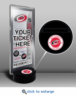 Carolina Hurricanes My First Game Hockey Puck Ticket Stand