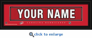 Carolina Hurricanes Personalized Stitched Jersey Nameplate Framed Print