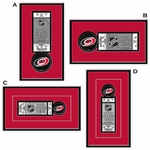 Carolina Hurricanes Single Ticket Frame