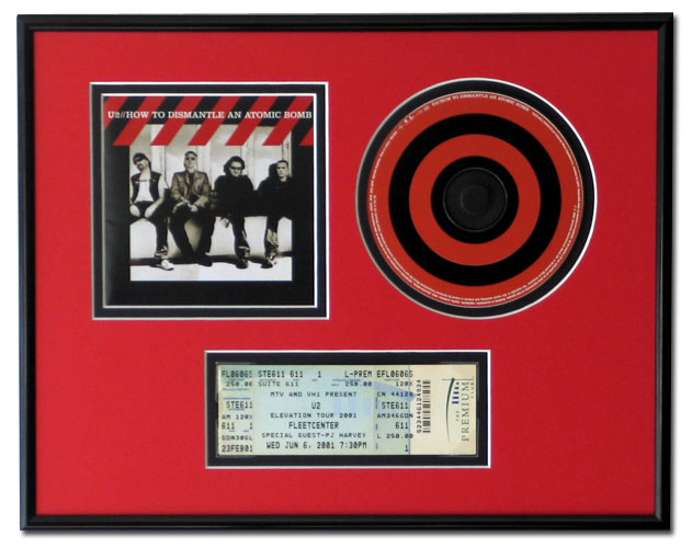 Cd Cover Art And Ticket Display Frame