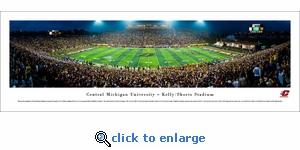 Central Michigan Chippewas Football - 50 Yard Line - Panoramic Photo (13.5 x 40)