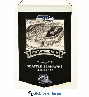 Centurylink Field Stadium Wool Banner (20 x 15) - Washington Redskins