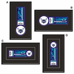 Charlotte Hornets Single Ticket Frame