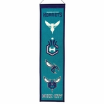 Charlotte Hornets Heritage Wool Banner (8 x 32)