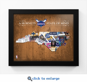 Charlotte Hornets State of Mind Framed Print - North Carolina