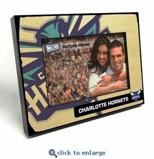 Charlotte Hornets Black Wood Edge 4x6 inch Picture Frame