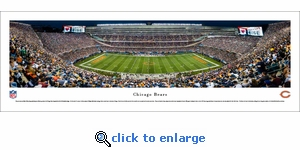 Chicago Bears - 50 YD Night - Panoramic Photo (13.5 x 40)