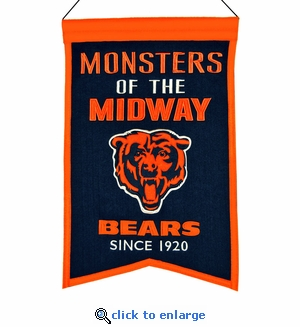 Chicago Bears Franchise Wool Banner (14 x 22)