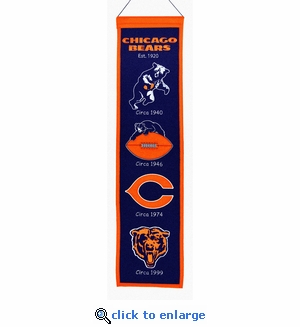 Chicago Bears Heritage Wool Banner (8 x 32)