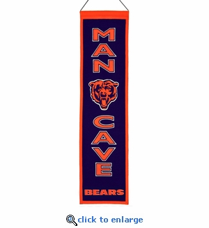 Chicago Bears Man Cave Wool Banner (8 x 32)
