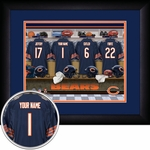 Chicago Bears Personalized Locker Room Print