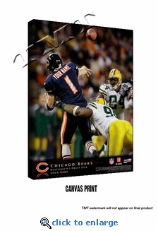 Chicago Bears Personalized Quarterback Action Print