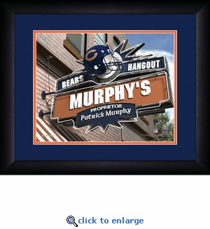 Chicago Bears Personalized Sports Room / Pub Print