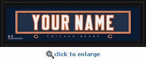 Chicago Bears Personalized Stitched Jersey Nameplate Framed Print