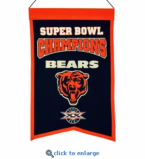 Chicago Bears Super Bowl Champions Wool Banner (14 x 22)
