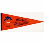 Chicago Bears Throwback Wool Pennant (13 x 32)