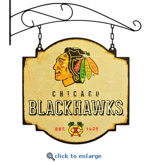Chicago Blackhawks 16 X 16 Metal Tavern / Pub Sign