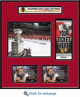 Chicago Blackhawks 2010 Stanley Cup Championship Banner Raising Ticket Frame