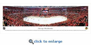 Chicago Blackhawks - Center Ice - Panoramic Photo (13.5 x 40)