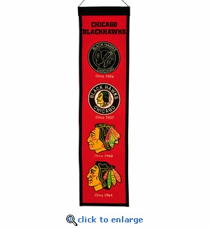 Chicago Blackhawks Heritage Wool Banner (8 x 32)