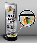 Chicago Blackhawks Hockey Puck Ticket Display Stand