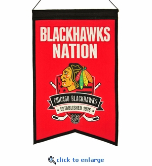 Chicago Blackhawks Nations Wool Banner (14 x 22)