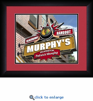 Chicago Blackhawks Personalized Sports Room / Pub Print