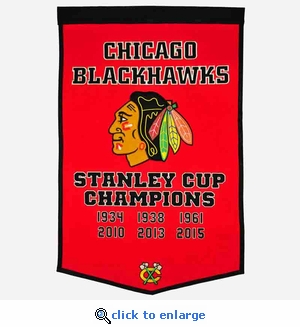 Chicago Blackhawks Stanley Cup Dynasty Wool Banner (24 x 36)