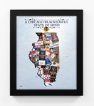 Chicago Blackhawks State of Mind Framed Print - Illinois