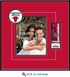Chicago Bulls 8x10 Photo Ticket Frame