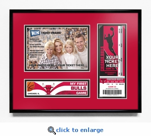 Chicago Bulls My First Game 5x7 Photo Ticket Frame